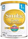 Similac Gold Latte per Lattanti, Latte in Polvere per Neonati dalla Nascita, Formula Esclusiva, Latte Artificiale con HMO e Senza Olio di Palma, Confezione da 900 g