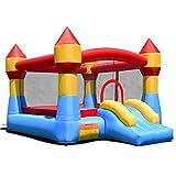 COSTWAY Castello Gonfiabile Castello di Gioco con Scivolo per Bambini da Esterno Giardino (370X280X230cm)