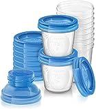 Philips Avent SCF618/10 Contenitori per Latte Materno, 180 ml, Confezione da 10 Pezzi