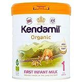 Kendamil Primo Latte per Neonati Organico, Fase 1 , dalla Nascita - Prodotto nel Regno Unito, Formula Organica di Latte Intero - No Olio di Palma, No Olio di Pesce, No Soia, No OGM - (800g)