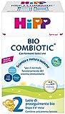 HiPP - Latte 2 Combiotic Di Proseguimento Bio, In Polvere, 4 Confezioni Da 600 G - 2400 g